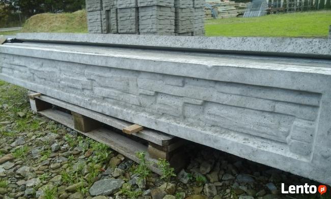 Podmurówka imitacja kamienia 248x20x5, murek ogrodzenia.