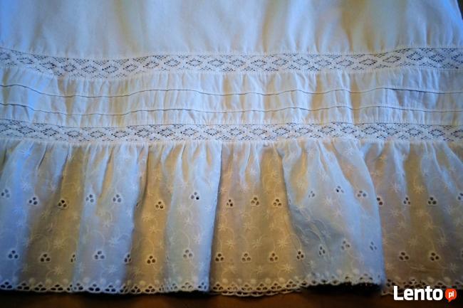 Biała spódniczka bawełna MIDI 40 H&M