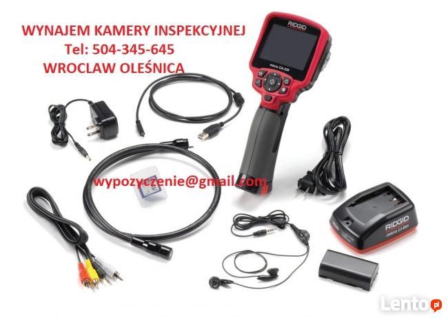 wynajem KAMERA INSPEKCYJNA endoskop Wrocław Oleśnica Termowi