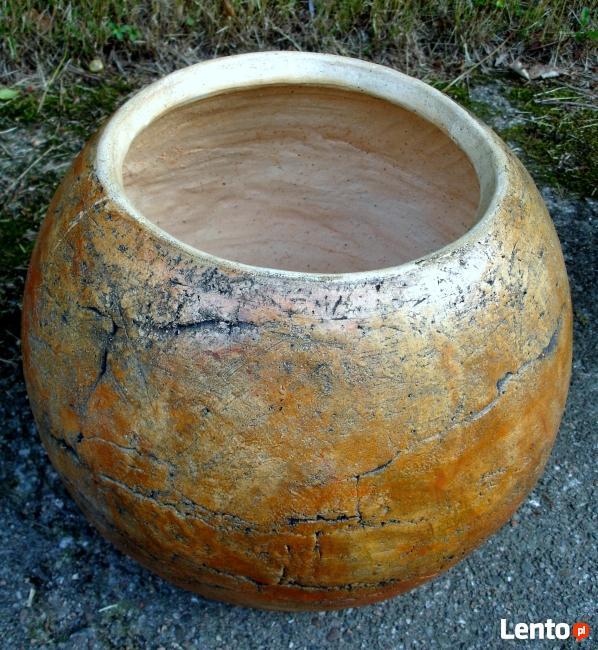 Ceramiczna donica/kula ogrodowa 40 cm. mrozoodporna