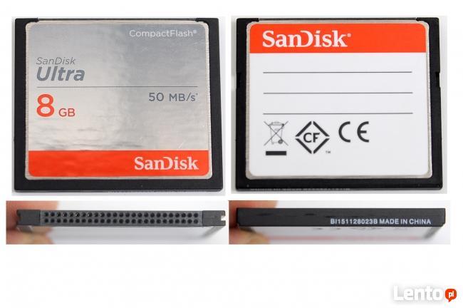 karta cf san disk ultra 8 gb 50 kb s