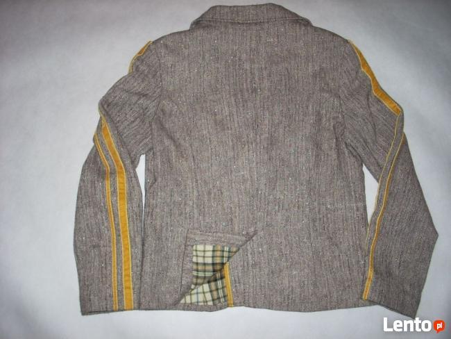 RESERVED żakiet marynarka melanż tweed M/L