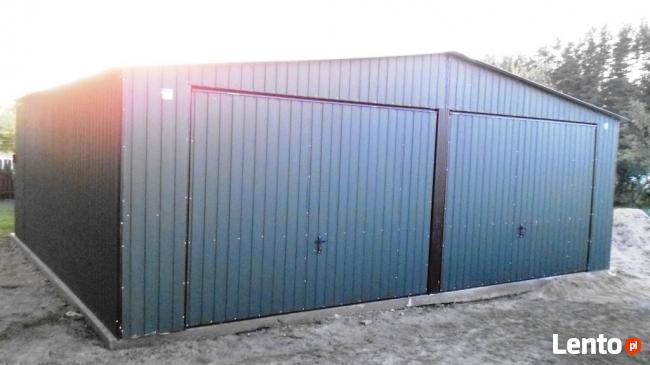 Garaż blaszany blaszak 7x6 KOLOR dwuspad PRODUCENT