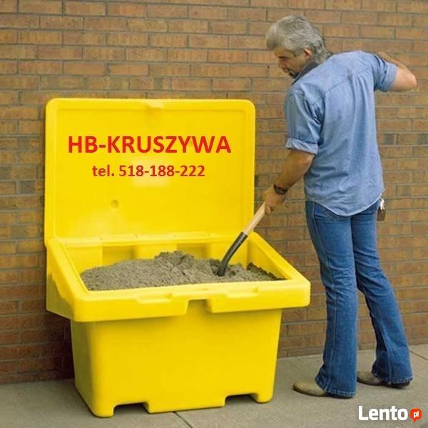 Piasek w workach 25kg do posypywania parkingów chodników