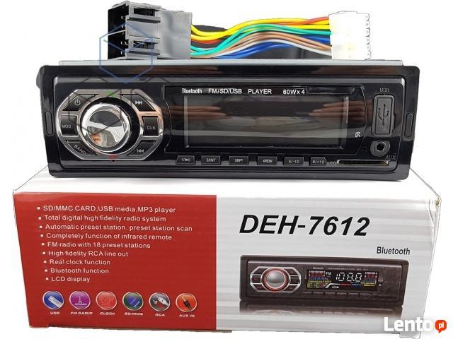 Radio Samochodowe Bluetooth MP3 FM USB SD +Pilot