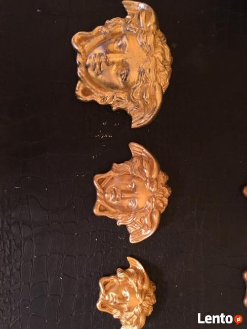 Versace pozłocona gorgona szlagmetalem 10x14 cm Zobacz