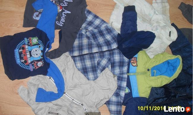 Kurtki bluzki czapki chłopięce na ok 2-3 lata