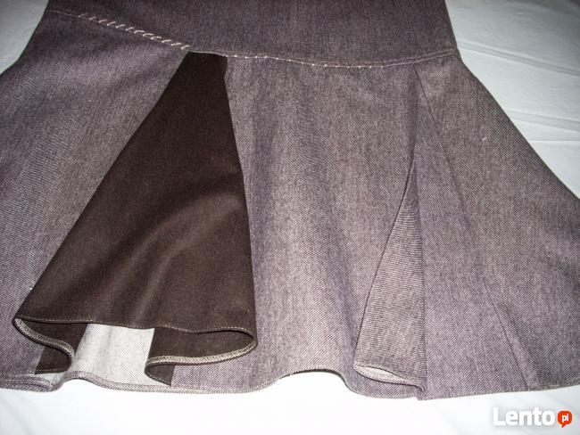 AE Woman Ciepła Spódnica Wełna Melanż 42 XL 44