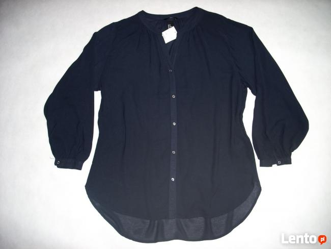 H&M Granatowa koszula Modna Luźna NOWA L XL