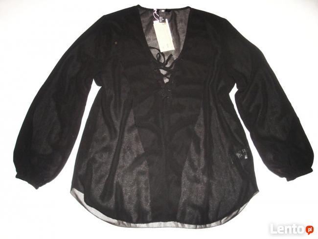 H&M Zwiewna Koszula z Falbanką Elegancka NOWA 34 XS 36 S