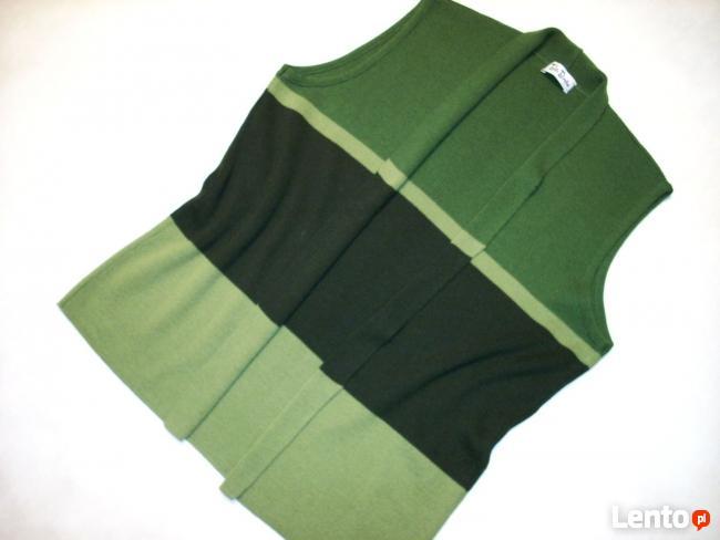 Betty Barclay Kamizelka Sweter z wełną Khaki 46 48