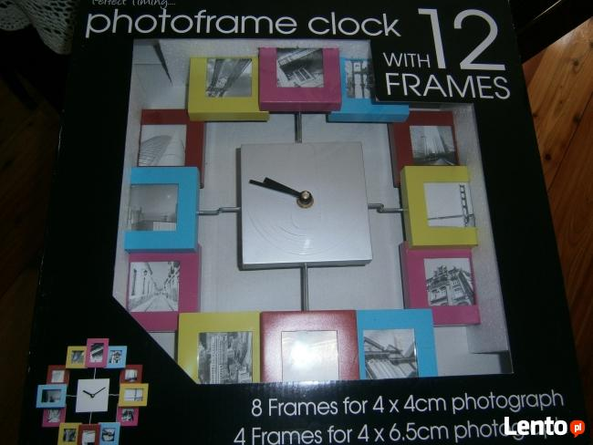Zegar PHOTOFRAME z 12 ramkami foto