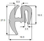 Uszczelka szyby TNL3 Ursus MF ZETOR, osłony maszyn numerych