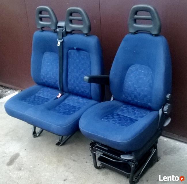Komplet Fotel Siedzenie Kierowcy Kanapa Fiat Ducato 2002 06