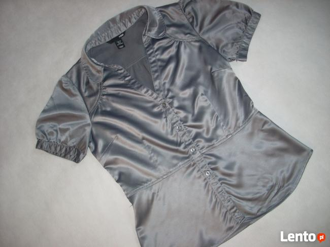 H&M koszula Elegancka Szara Satyna j NOWA 38 M