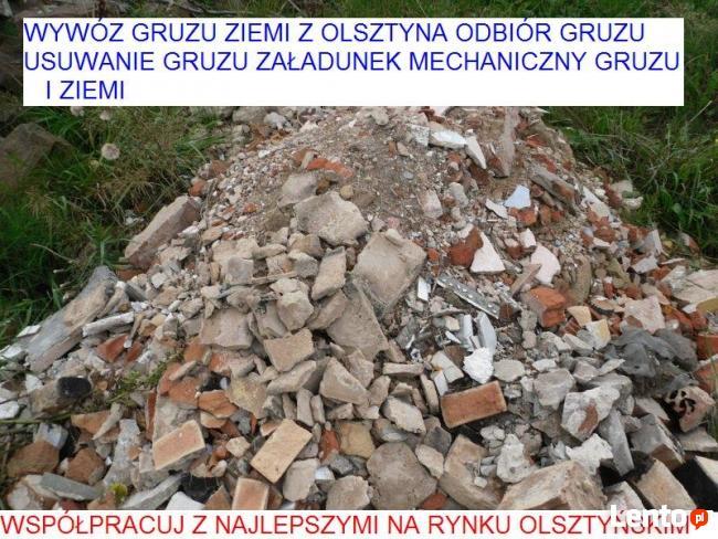 wywóz gruzu Dobre Miasto odbiór gruzu ziemi załadunek