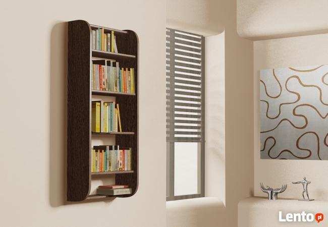 Półka Detalion na ścianę wisząca książki dvd cd pionowa