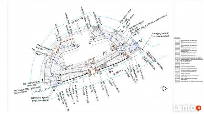 Projekty drogowe, kosztorysy, Civil 3D, wydruki wielkoforma