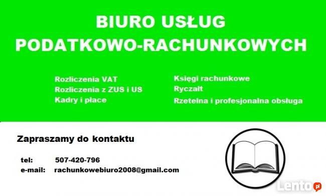 Usługi księgowe kadrowo-płacowe Biuro Rachunkowe