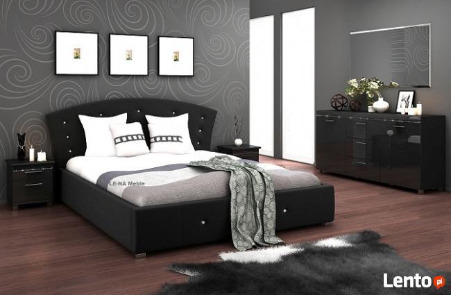 Łóżko tapicerowane + pojemnik