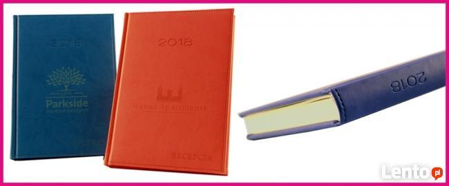 Kalendarze Terminarze 2018 książkowe z Twoim napisem, logo
