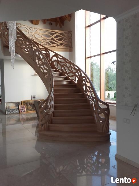 Stylowe schody drewniane, Katowice, śląskie