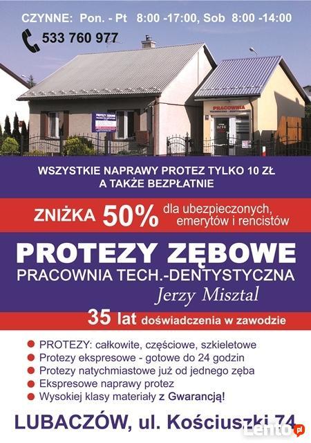 PROTEZY ZĘBOWE-rejest.na tel.533 760 977 lub w Gabinecie