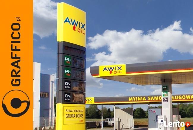 Kompleksowe oznakowanie reklamowe stacji paliw
