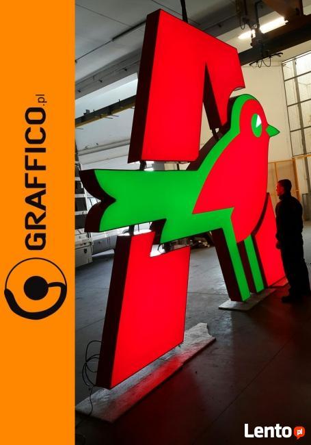 Litery świetlne, litery 3D alumniowe_ GRAFFICO