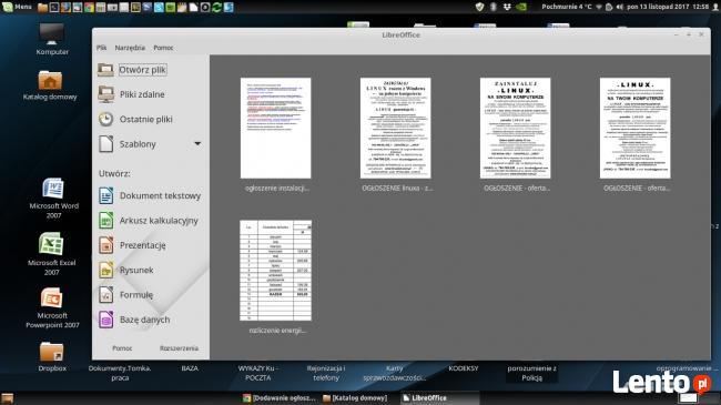 Instalacja systemu L I N U X na komputerze