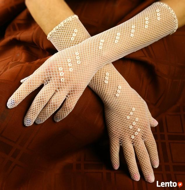 Rękawiczki siatkowe, oryginał z lat 50-tych