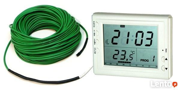 Kabel grzejny przewód grzewczy ZG z termostatem D600C