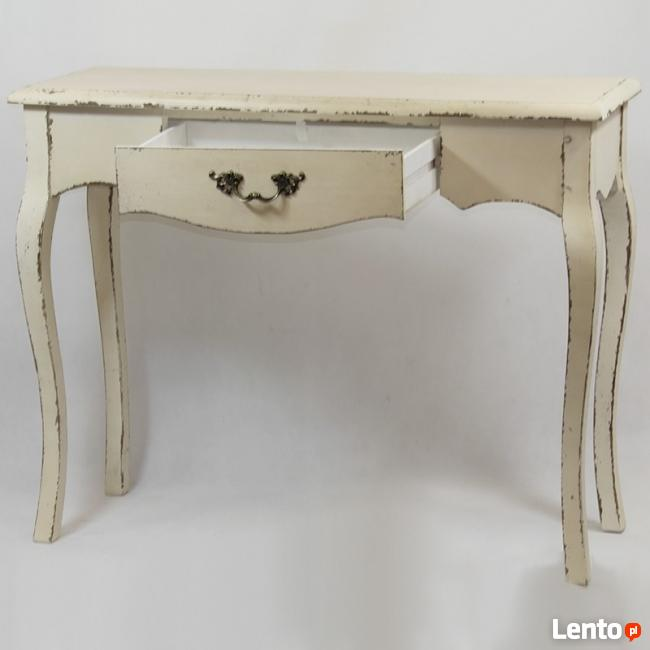 przecierana konsola stolik w stylu prowansalskim vintage