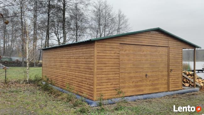drewnopodobny garaż blaszany 5x7 wiata profil