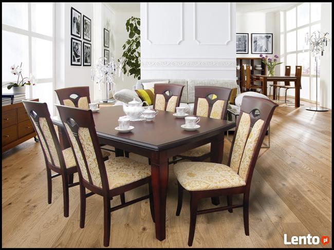 Krzesło tapicerowane nowoczesne eleganckie modne wygodne
