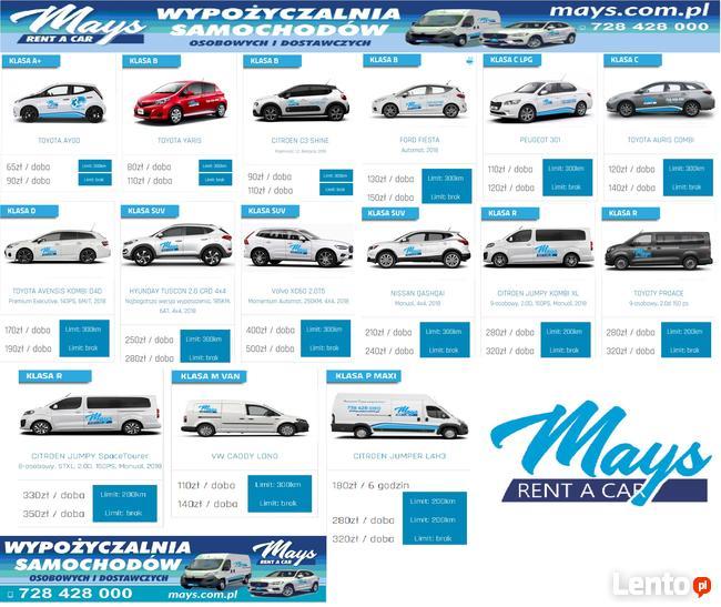 wynajem aut osobowych i dostawczych