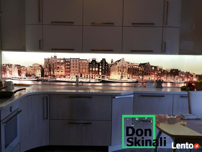 Panele szklane grafika, lakierowane, z podświetleniem led, l