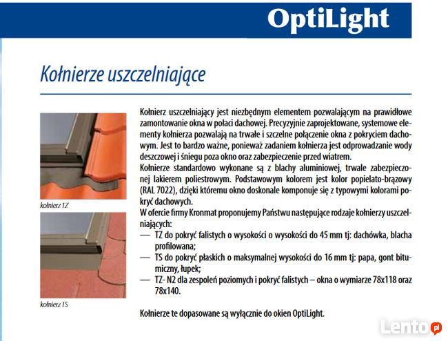 Okno dachowe drewniane OptiLight B 94x140cm z kołnierzem