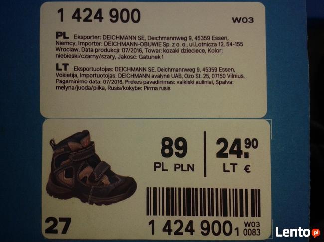 Buty dziecięce Deichmann Dostawa gratis czarny szary