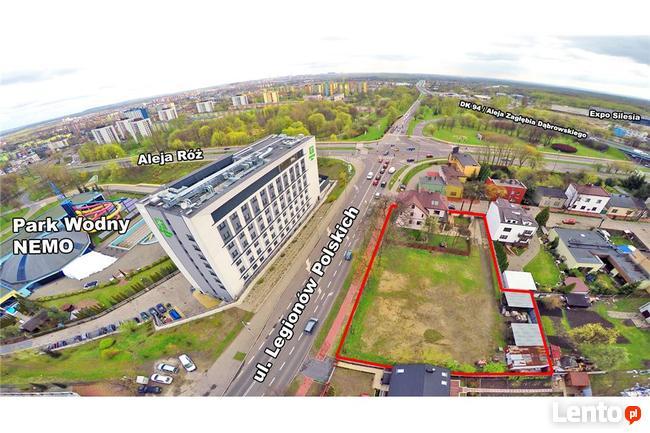 Nieruchomość pod hotel usługi w Centrum Dąbrowa Górn.