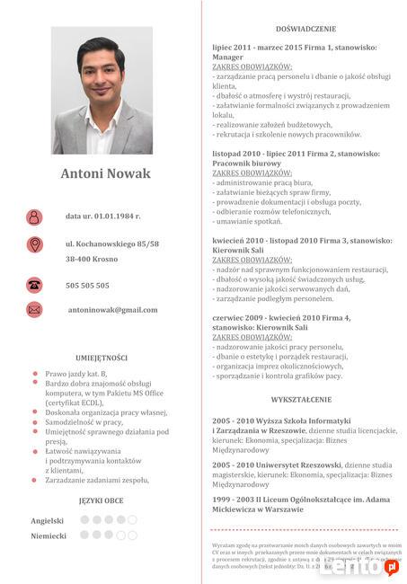 Nowoczesne i profesjonalne CV i LM