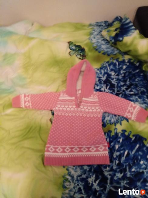Sweterek dla dziewczynki różowy
