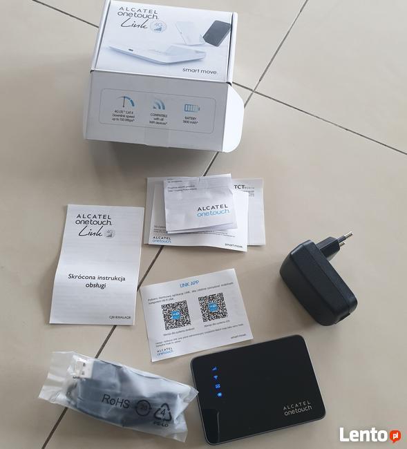 Router LTE na kartę SIM Alcatel Onetouch Link 4G zestaw