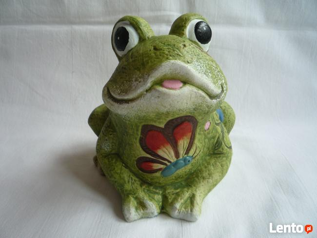 NOWA Żaba Żabka zielona figurka ceramika