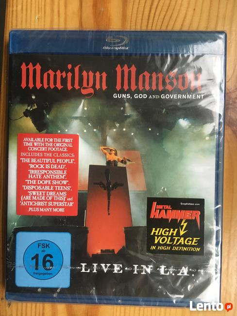 Marilng Manson LIVE IN L.A.(blu- ray)- NOWA zafoliowana