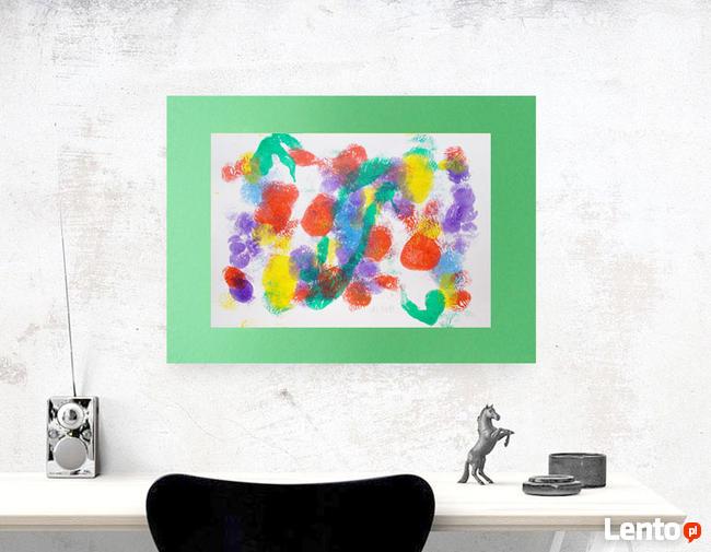 kolorowy rysunek 30x40, abstrakcja na ścianę