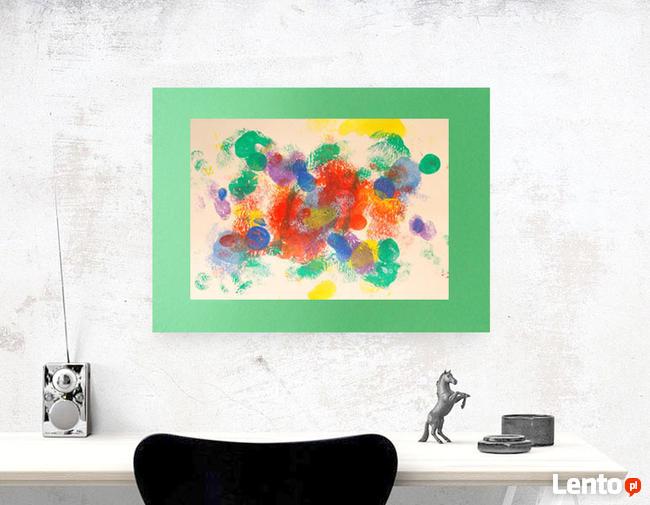 kolorowa grafika na ścianę, ładna abstrakcja do pokoju