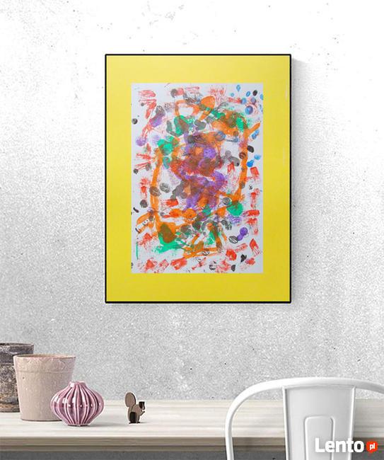 nowoczesny obraz 30x40, kolorowa abstrakcja na ścianę