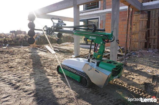 Elektryczny manipulator do szkła na gąsienicach 800 kg