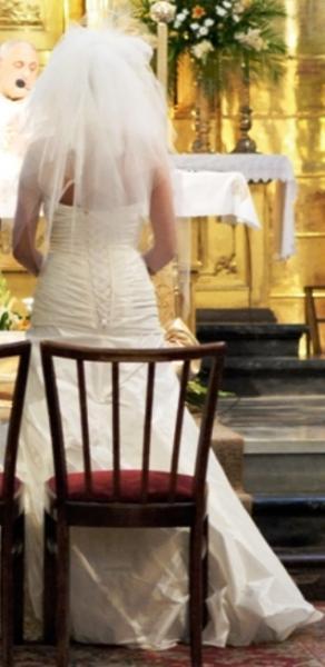 Jedwabna suknia od projektantki r.38, 500 PLN do negocjacji